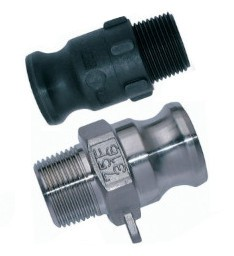 Cam & Groove plug for mortar socket with male thread