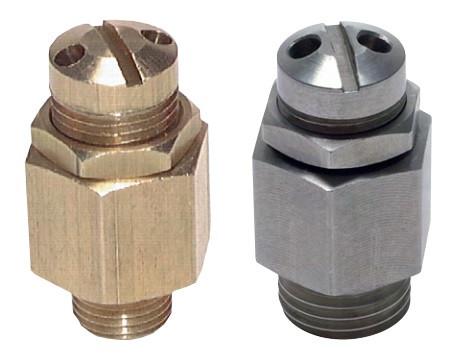 Mini safety valves with male thread, adjustable