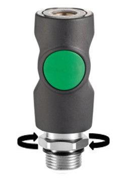 Sicherheits-Druckknopfkupplungen NW7.2 Typ26, Außengewinde