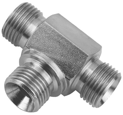 Hydraulik-T-Stück HDT5, für Flachdichtungen