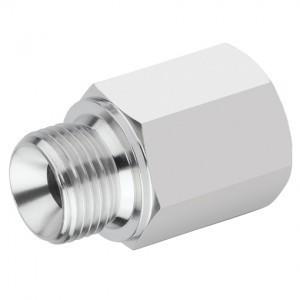 Edelstahl Hydraulik-Reduziernippel HDRNLX1