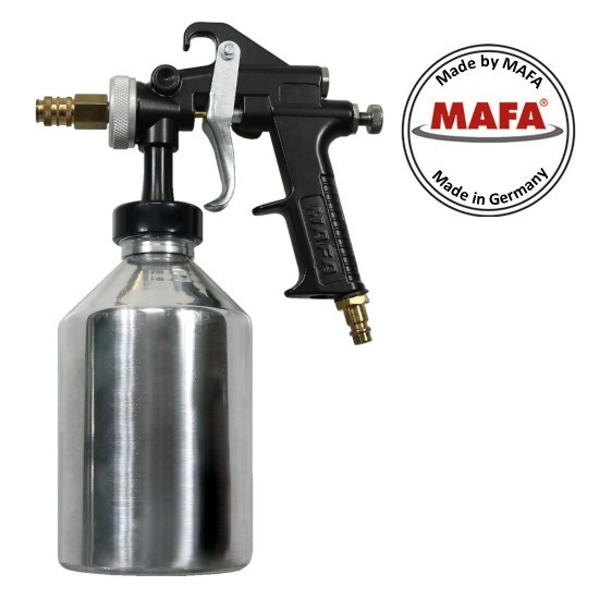 Spray gun for hot grease cavity sealing