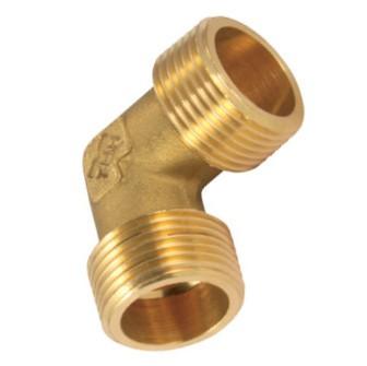 Elbow-piece - male thread BSP cylindric - Brass