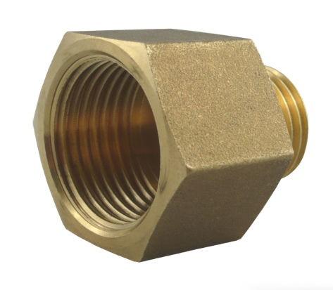 Reducing nipple long - brass