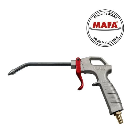 MAFA-Ausblasepistole mit Verlängerungsrohr Winkel 30°, Luftanschluss Stecker NW7.2