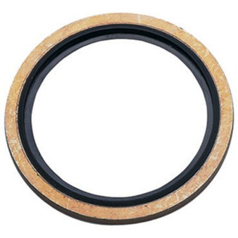 Hydraulic seal rings with nitrile liner, metric thread, steel