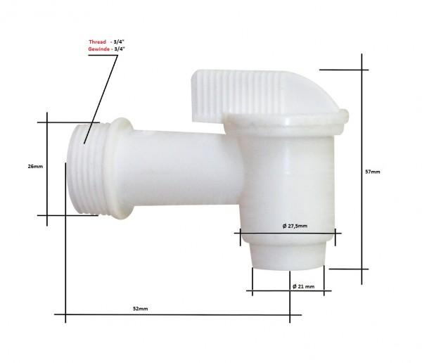 """Fasshahn 3/4"""" Polyethylen"""