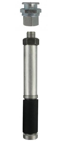 Aluminium-Schraubpacker ø13x110mm Flachkopfnippel M1