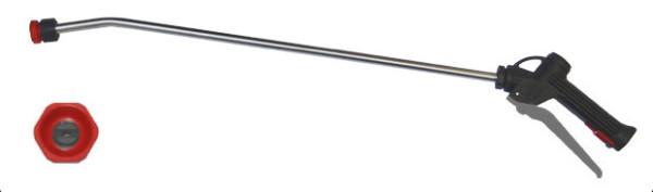 Sprühlanze mit Edelstahl Rohr, grauer Hebel, Lanzen länge 600mm, Schaumdüse