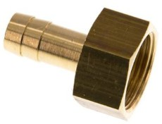 Thread-hose nozzle with female thread brass