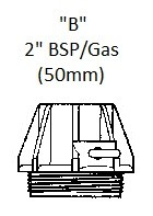 """Adapter """"B"""" for jerrycan and drum pumps"""