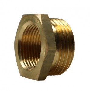 Reducing nipple short - brass