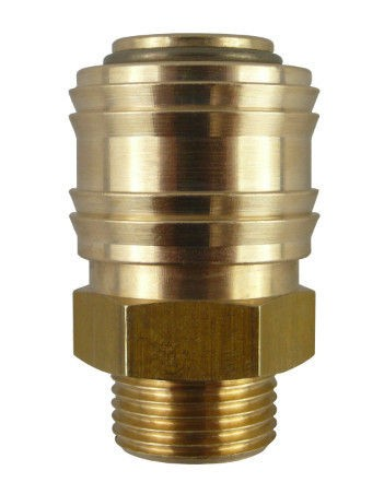 Coupling socket NW7.2 Type26, male thread