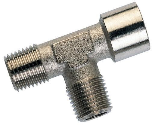 Tee-piece-2x male thread BSPT conical - 1x female thread BSP cylindric