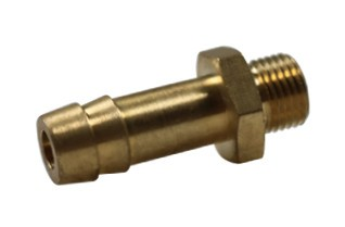 Thread-hose nozzle with cylindrical male thread