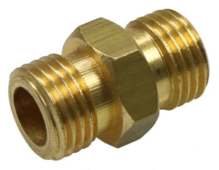 Brass twin-nipple G1/4 without internal cone