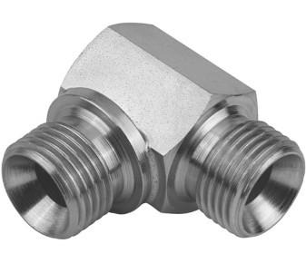 Hydraulic-elbow HDW1 - for flat seal