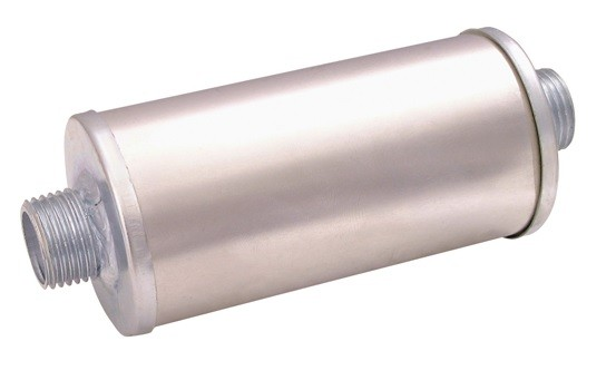 Silencer with double threaded joint