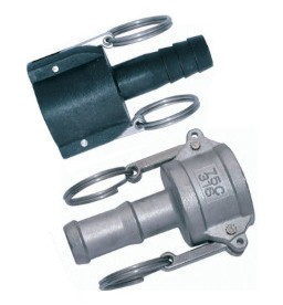 Cam & Groove Mortar-Socket with hosetail