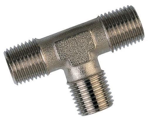 Tee-piece - 3 x male thread BSPT conical