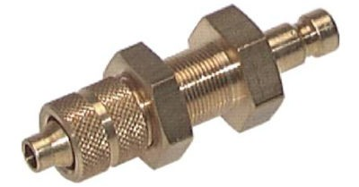 Couplers plug with bulkhead thread and union nut, NW2.7 type 20
