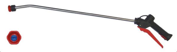 Sprühlanze mit Edelstahlrohr, roter Hebel, Lanzen länge 600mm, Ohne Düse