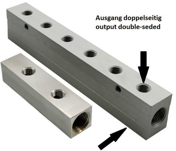 Alu-distributor block typ VT2, double-sided