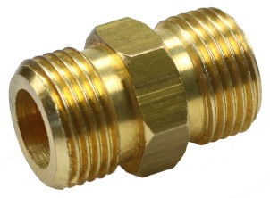 Brass twin-nipple G3/8 without internal cone