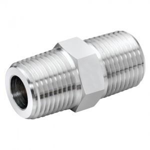 Edelstahl Hydraulik-Doppelnippel HDNX2