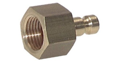 Coupler plug with female thread NW2.7 Type 20