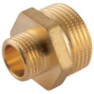 Twin-Nipple BSPP cylindrical, brass