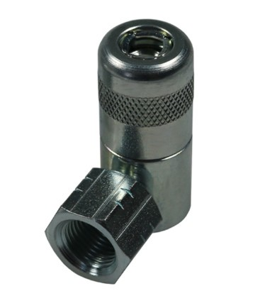 Coupler 90°, for hydraulic nipples H acc. to DIN71412