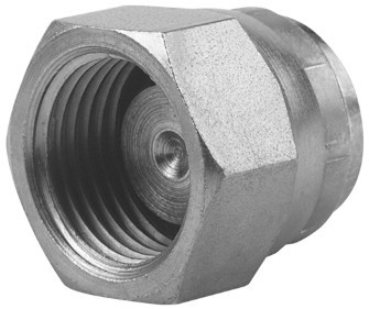 Hydraulic closing cap – metric female thread, swiveling