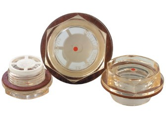 Oil level glass - Plastic with male thread