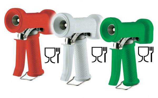 Wash gun for hot water to 90°C/194°F
