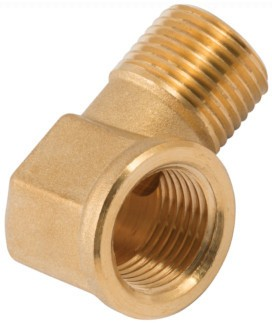 Elbow-piece - MT BSPT, FT BSP, brass