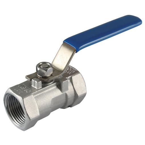 Satinless steel-Ball valve 1-part, PN63, FT