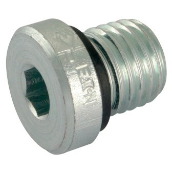 Hydraulic closing plug, hexagon socket, metric thread