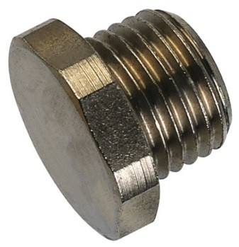 Closing nut - tube external thread made of stainless steel
