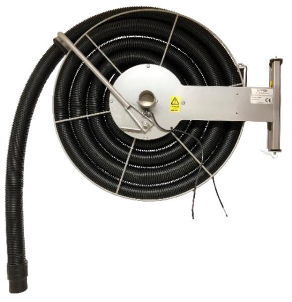 Vacuum hose reel, ceiling mounting