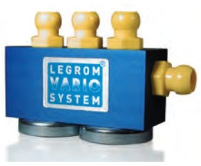VARIO-mainfold block with 2 magnets