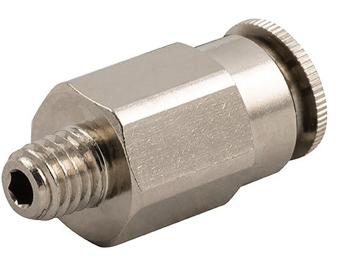 High pressure push-in fitting, male thread conical (R) hose