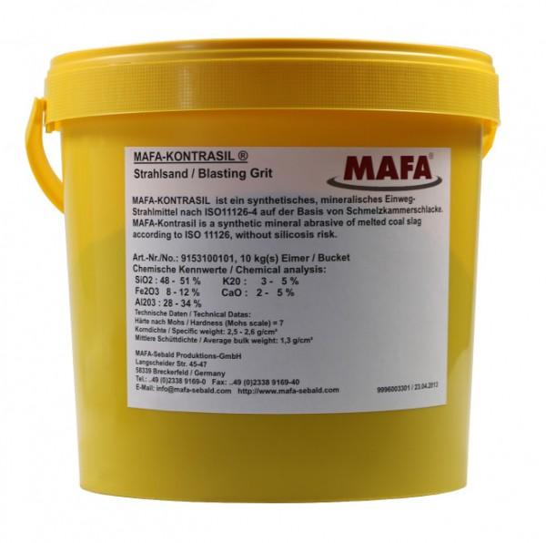 Sandblast Grit KONTRASIL Grain Size 0,2-0,5mm - Bucket 10kg