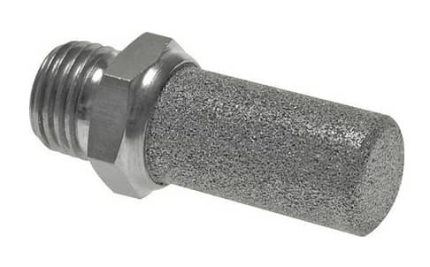Silencer for compressed air, stainless steel