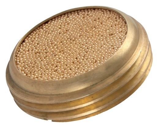 Schalldämpfer zum Einschrauben mit Sinterplatte