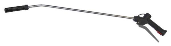 Schaumlanze mit Edelstahl Rohr, grauer Hebel, Lanzen länge 600mm, 750mm, Schaumkopf