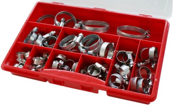 Schneckengewindeschellen Sortiment W1 und W4, Bandbreite 9mm und 12mm