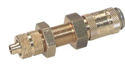 Couplers with bulkhead thread and union nut, NW2.7 type 20