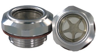 Oil level glass - Aluminium with male thread