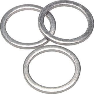 Hydraulic seal rings made of aluminium